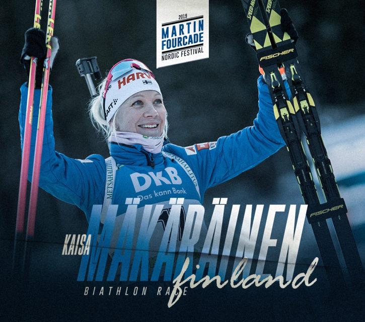 Kaisa Mäkäräinen, biathlète finlandaise