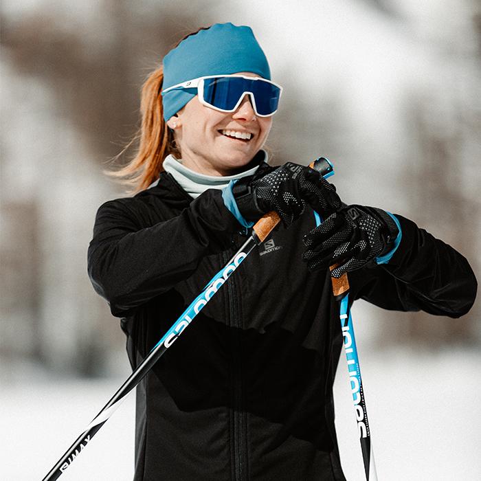 lunettes de soleil-ski de fond