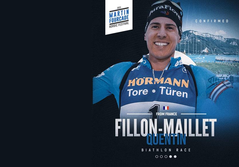 Quentin Fillon Maillet, biathlète français