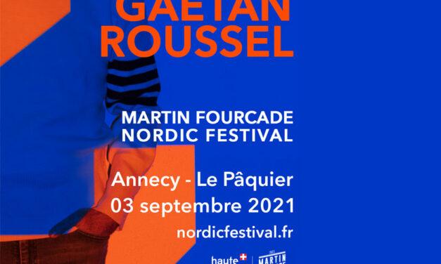 Concert de Gaëtan Roussel en ouverture du Martin Fourcade Nordic Festival
