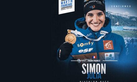 Julia Simon, biathlète française